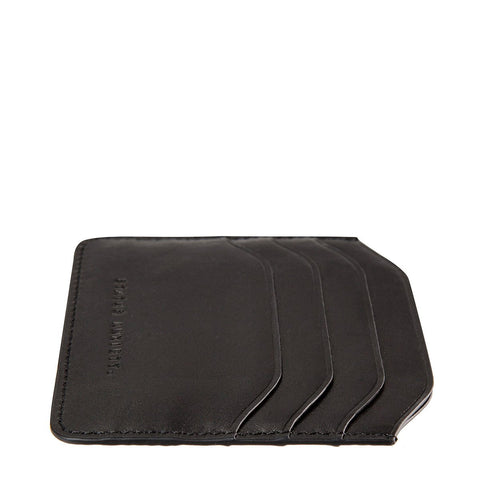 Status Anxiety Earl Black Leather Wallet ILKA HOME