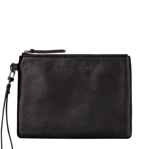 Status Anxiety Fixation Leather Wallet Black ILKA HOME