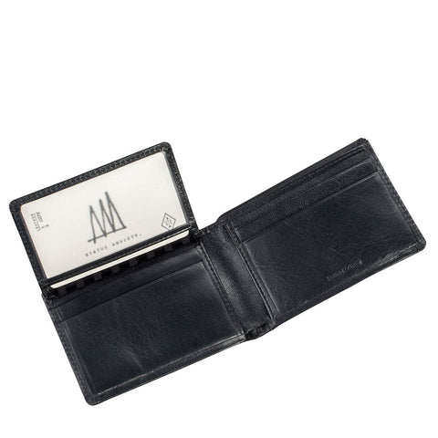 Status Anxiety Jonah Black Leather Wallet ILKA HOME
