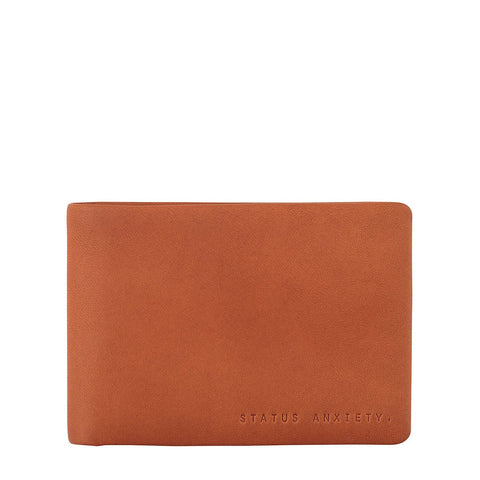 Status Anxiety Jonah Camel Leather Wallet ILKA HOME