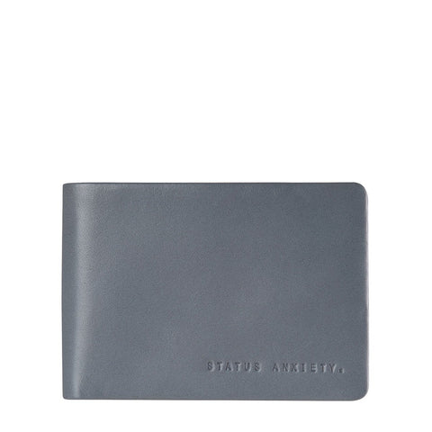 Status Anxiety Jonah Slate Grey Leather Wallet ILKA HOME
