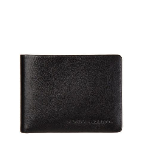 Status Anxiety Leather Mens wallet tobias black