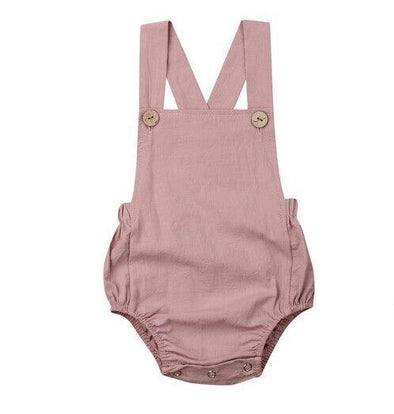Basic Romper - Dusty Pink - Urban Tots
