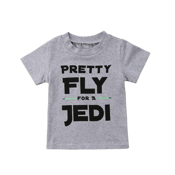 Fly Like Jedi T-Shirt - Grey - Urban Tots