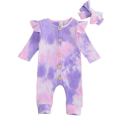 Mia Tie Dye Jumpsuit - Purple - Urban Tots