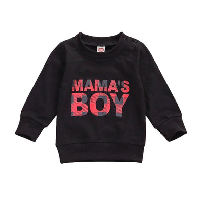 Mama's Boy Sweater - Black - Urban Tots