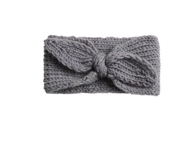 Knit Bow Head-wrap | Grey
