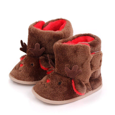 Reindeer Booties - Brown - Urban Tots