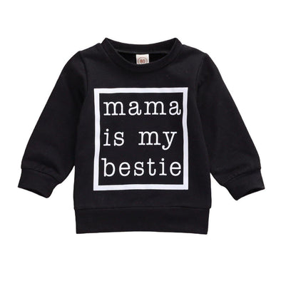 Mama is My Bestie Sweater - Black - Urban Tots