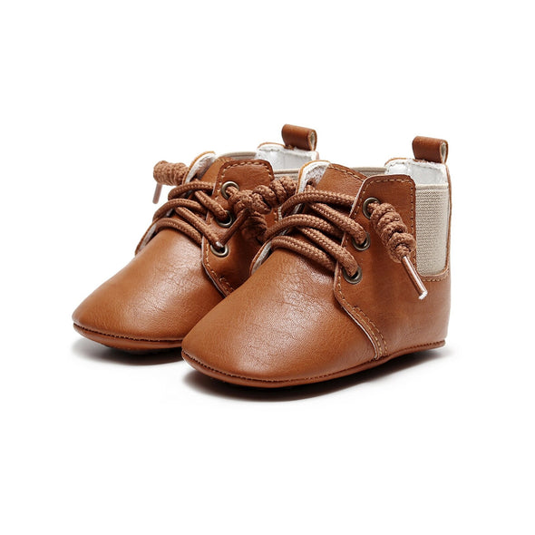 Soft-Soled Retro Sneaker - Tan