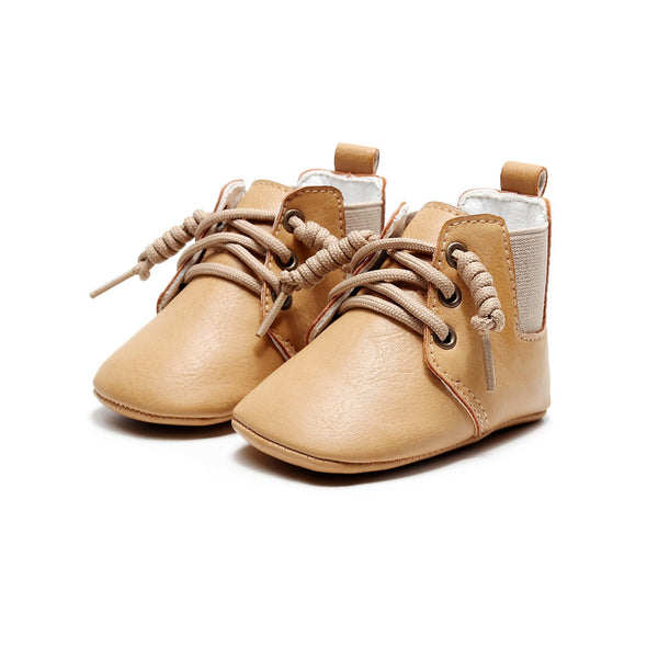 Soft-Soled Retro Sneaker - Beige