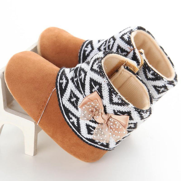 Ethno Bow Booties - Urban Tots