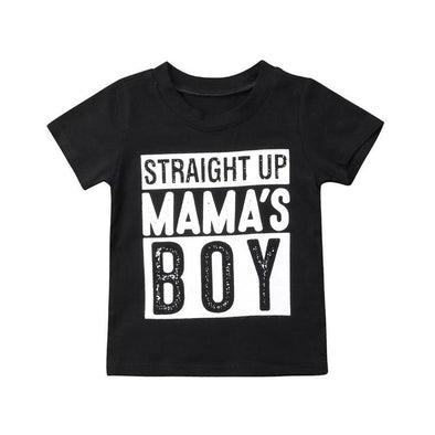 Straight Up Mama's Boy Tee - Urban Tots