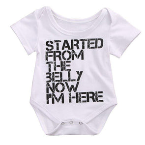 Started From The Belly Bodysuit - Urban Tots