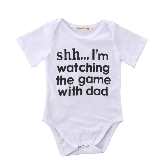 Watching The Game Bodysuit - Urban Tots
