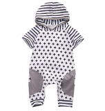 Stripes & Crosses Onesie | 0-18M - Urban Tots
