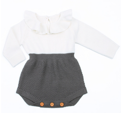 Girls Knit Romper - Urban Tots