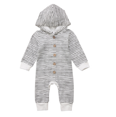 Button-up Stripe Jumpsuit| 3-24M - Urban Tots