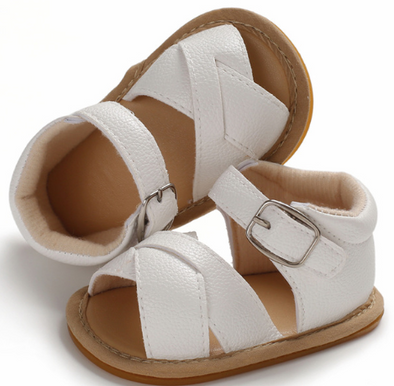 Woven Sandals - White - Urban Tots