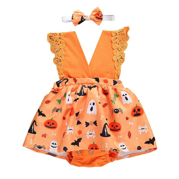 Pumpkin Patch Romper - Urban Tots