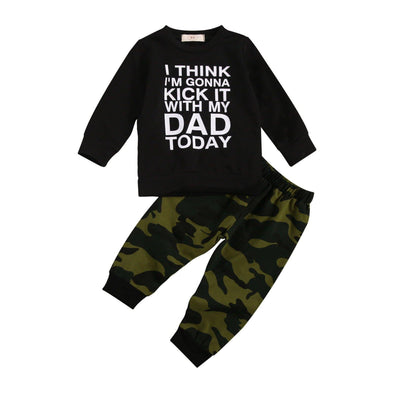 Kick It With My Dad Camo Set - Urban Tots