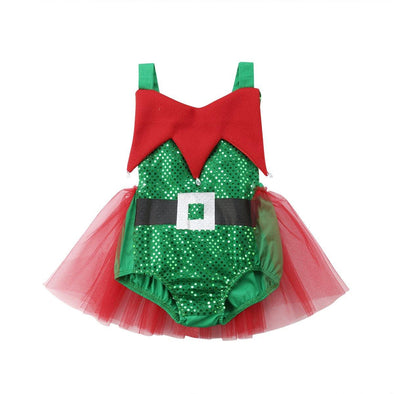 Christmas Elf Skirt Romper - Urban Tots