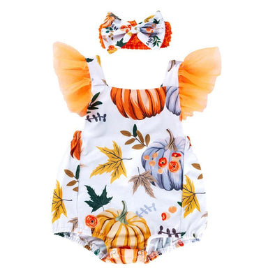 Autumn Halloween Romper - Urban Tots
