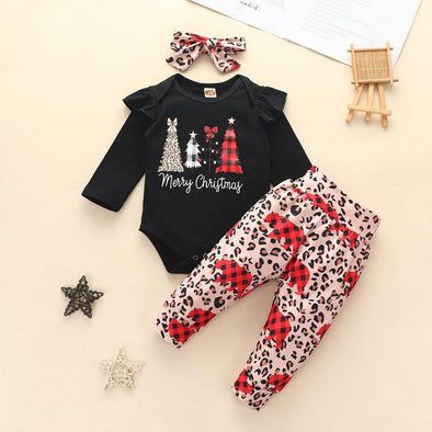 Merry Christmas Leopard Pant Set - Urban Tots