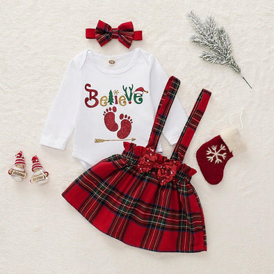 Believe Suspender Skirt Set