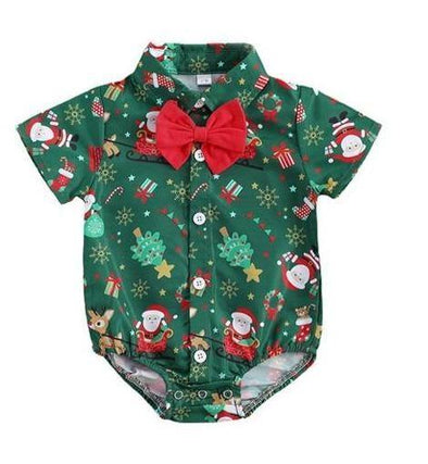 Bowtie Christmas Bodysuit - Green