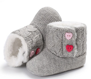 Knit Heart Booties - Urban Tots