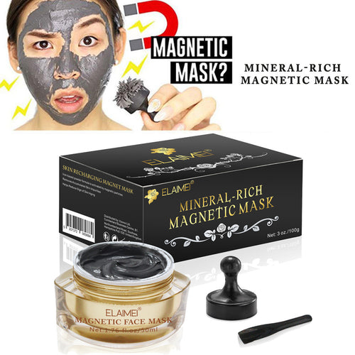 Mineral Rich Magnetic Face Mask Pore Cleansing Removes Skin Impurities