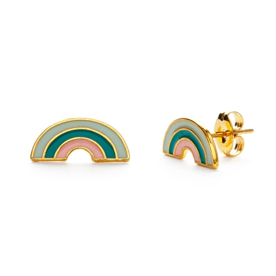 Load image into Gallery viewer, rainbow studs tropical earrings