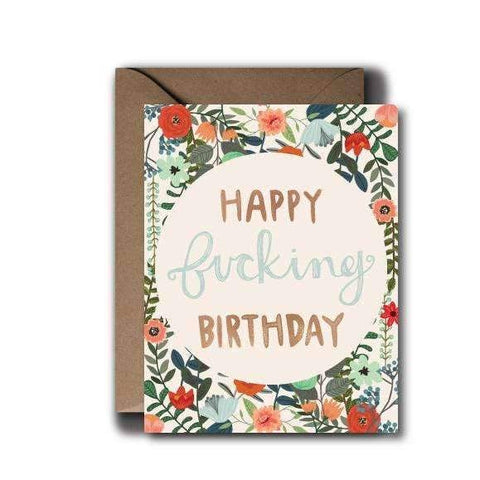 happy fu*king birthday greeting card