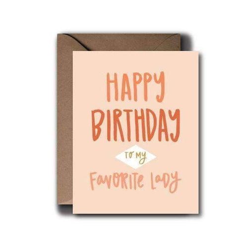 favorite lady birthday greeting card