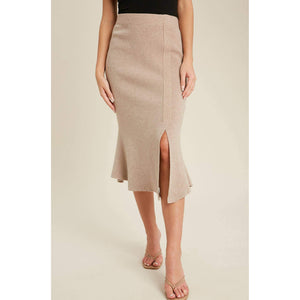 Load image into Gallery viewer, mermaid taupe sweater skirt