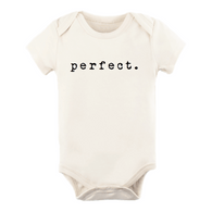 Perfect Natural Organic Short Sleeve Onesie