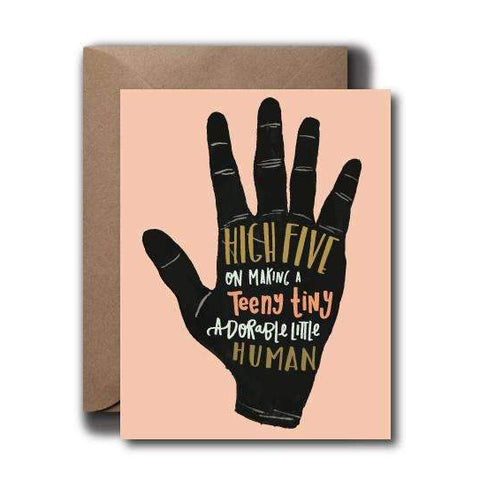 high five baby greeting card