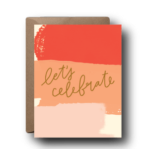 let's celebrate congratulations greeting card