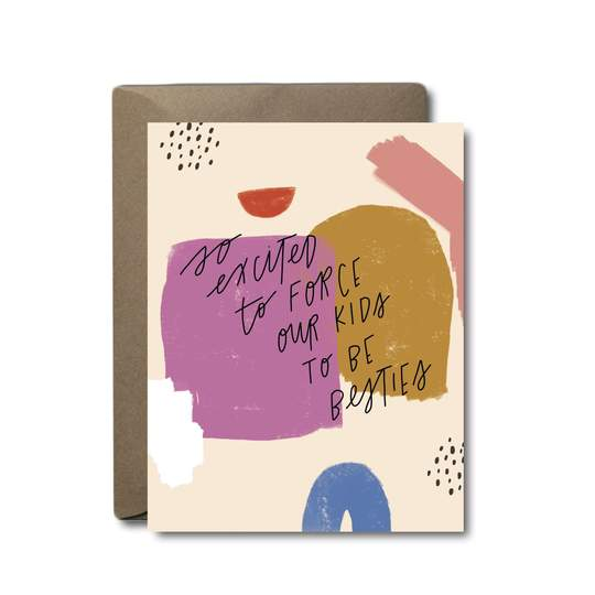 besties baby greeting card