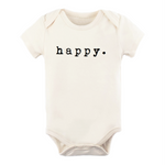happy natural organic onesie