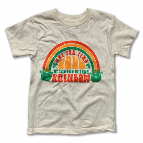 gold at the end rainbow vintage tee