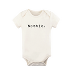 bestie black + natural organic onesie