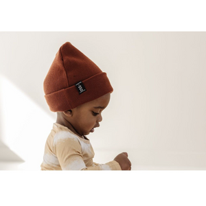 Load image into Gallery viewer, rust knit beanie