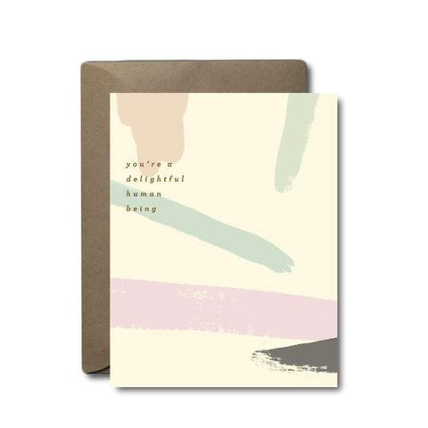 delightful human being thank you greeting card