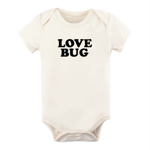 Load image into Gallery viewer, love bug black + natural organic onesie