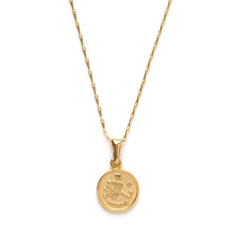 tiny zodiac scorpio gold necklace