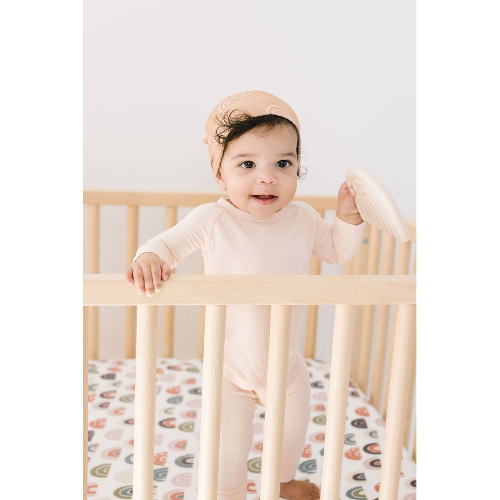 Load image into Gallery viewer, spring rainbow muslin crib sheet