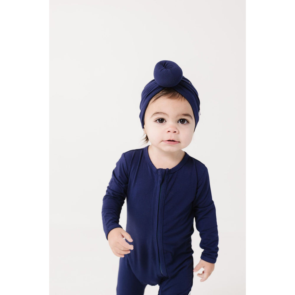 Load image into Gallery viewer, indigo bamboo knotted turban hat