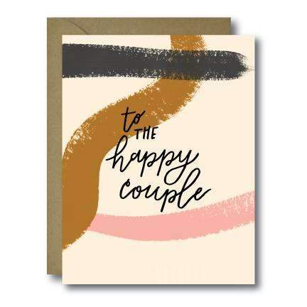 to the happy couple wedding greeting card